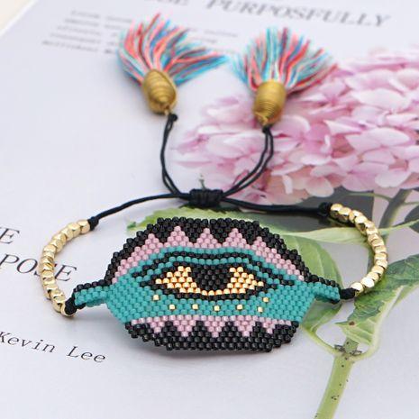 New fashion creative handmade beaded rice beads woven demon eye bracelet jewelry NHGW259232's discount tags