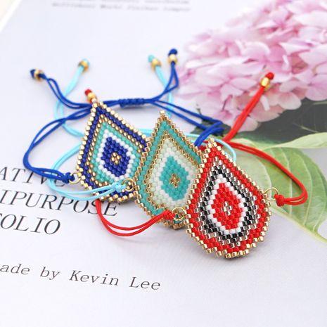 fashion Bohemian style creative handmade beaded rice bead woven drop-shaped bracelet  NHGW259234's discount tags