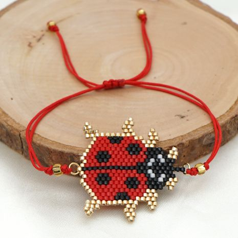 fashion new simple antique rice beads handmade seven-star ladybug bracelet NHGW259235's discount tags