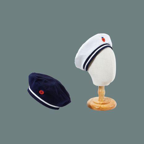La moda vendedora caliente bordada al por mayor del sombrero octagonal del sol salvaje de la marina de guerra de la boina NHTQ258797's discount tags