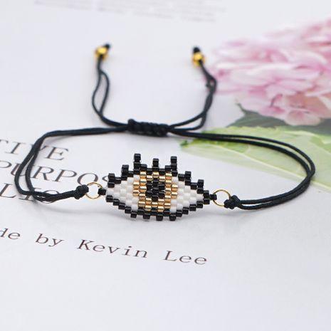 Fashion simple wild ethnic style handmade jewelry rice bead weaving demon eye bracelet NHGW259238's discount tags