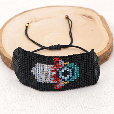 Fashion new Ethnic Style MGB Rice Bead Weaving Fatima Palm Eye Bracelet NHGW259239's discount tags