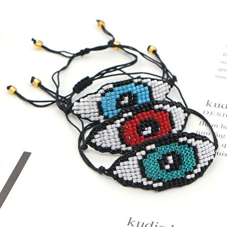 Halloween Devil Eyes Ethnic Style MGB Rice Beads Hand-woven Bracelet NHGW259240's discount tags