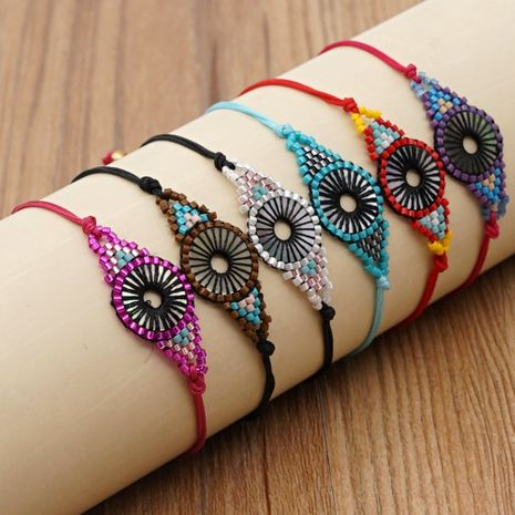 Fashion geometric bohemian style handmade jewelry rice bead braided bracelet NHGW259262's discount tags
