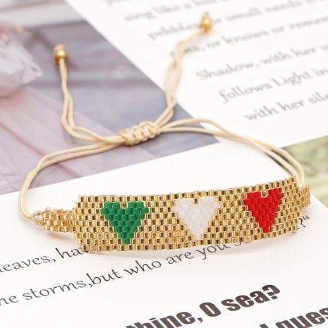 new love Bohemian style handmade jewelry rice beads braided bracelet NHGW259264's discount tags