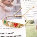 new love Bohemian style handmade jewelry rice beads braided bracelet NHGW259264