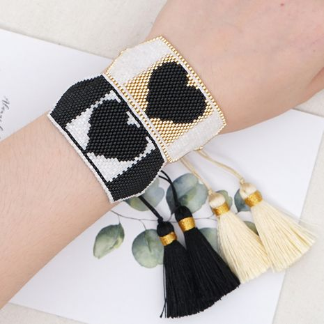 Fashion rice bead woven Bohemia exotic ethnic style love beaded bracelet  NHGW259266's discount tags
