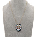 ethnic style wild beaded rice bead woven Indian chief hat necklace  NHGW259279