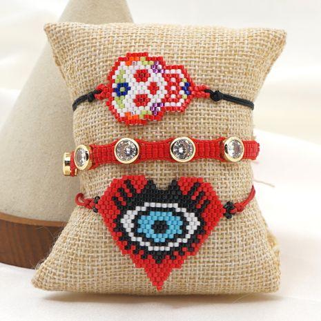 Miyuki rice bead woven jewelry hip hop style tide diamond skull bracelet NHGW259288's discount tags