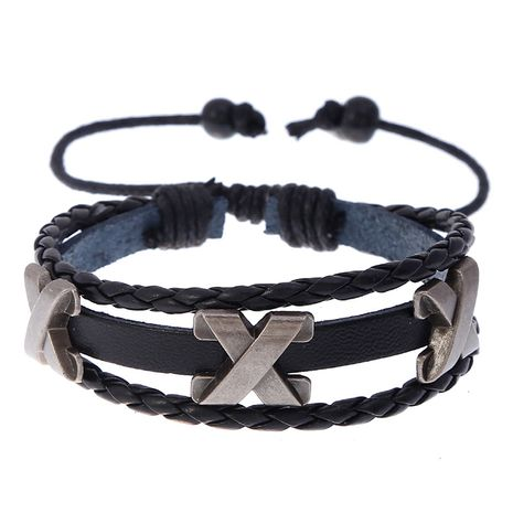 hot-selling fashion new woven cowhide adjustable beaded leather bracelet NHPK259298's discount tags
