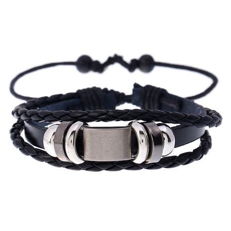 Punk style new Korean simple leather fashion trend beaded woven student bracelet  NHPK259302's discount tags