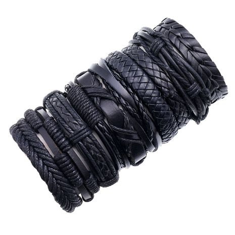 Fashion new retro woven mix and match jewelry simple multi-layer adjustable  bracelet NHPK259303's discount tags