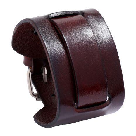 bracelet en cuir large punk réglable simple en cuir pour hommes rétro NHPK259317's discount tags