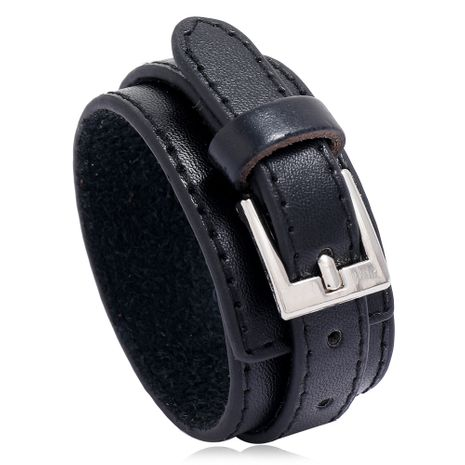 Fashion multi-layer PU leather simple men's new punk style leather bracelet  NHPK259319's discount tags