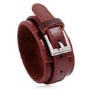 Fashion multilayer PU leather simple mens new punk style leather bracelet  NHPK259319