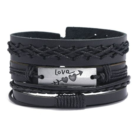 vente chaude bracelet en cuir tressé vintage de style hip-hop NHPK259322's discount tags
