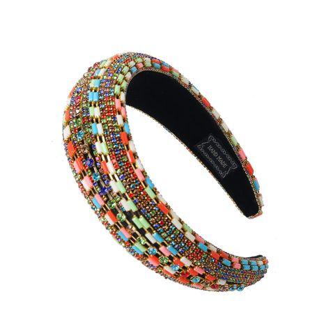 Hot selling fashion colored diamond alloy glass diamond mix and match headband NHCO259334's discount tags