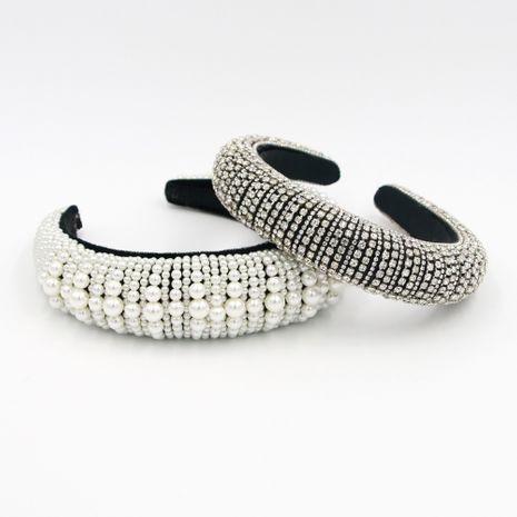 Vente en gros de bandeau en métal perlé de mode NHCO259351's discount tags