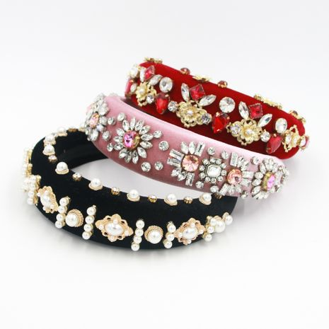 Hot selling fashion pearl metal headband wholesale NHCO259355's discount tags