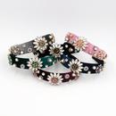 Hot selling fashion crystal clear flower headband wholesale NHCO259360
