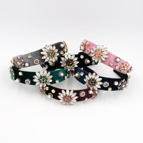 Hot selling fashion crystal clear flower headband wholesale NHCO259360's discount tags