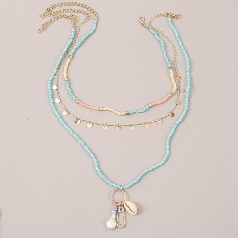 Style bohème multicouche coquille tissée perle de riz tendance perle pendentif collier bijoux NHLA259383's discount tags