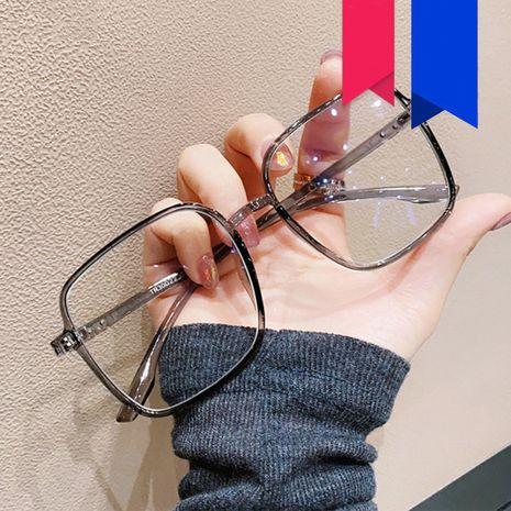 grand cadre lunettes légères nouveau coréen plaine rétro carré plat lunettes en gros nihaojewelry NHKD235520's discount tags