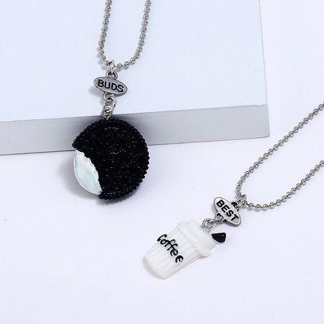 Hot selling fashion cute three-dimensional coffee cup Oreo simulation BFF necklace  NHNU258981's discount tags