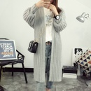 Autumn new cardigan women loose solid color midlength allmatch sweater fashion sweater knitted jacket NHJC259388