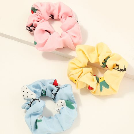 Hot selling children's strawberry large intestine Hair Scrunchies NHNU259422's discount tags