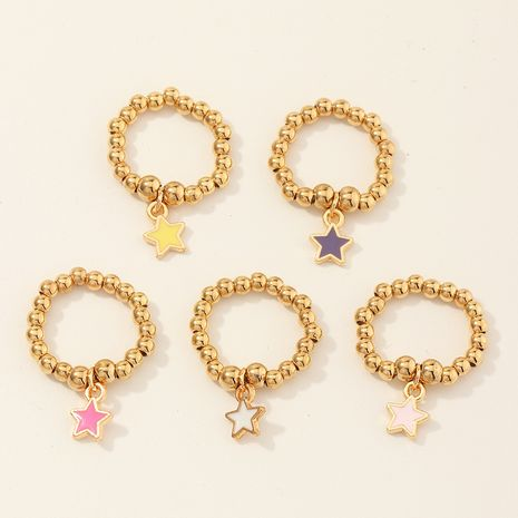 fashion new round bead  wild color five-pointed star bracelet set  wholesale  NHNU259425's discount tags