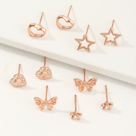 New fashion palm butterfly star letter girls diamond earrings set  NHNU259426's discount tags