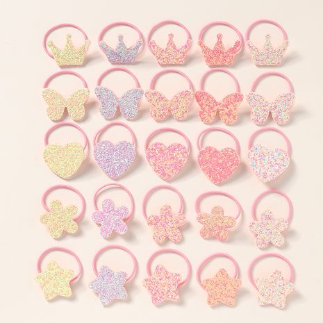 Hot selling fashion star love glitter diamond children hair rope NHNU259427's discount tags