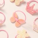 Hot selling fashion star love glitter diamond children hair rope NHNU259427