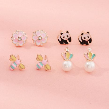 new fashion  Korean cartoon cute ethnic style  earrings wholesale NHNU259428's discount tags