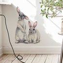 new wall stickers two cute rabbits childrens room home decoration removable wall stickers NHAF259445