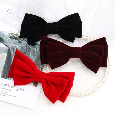 new flannel bow fashion hair clip wholesale  NHJE259451's discount tags