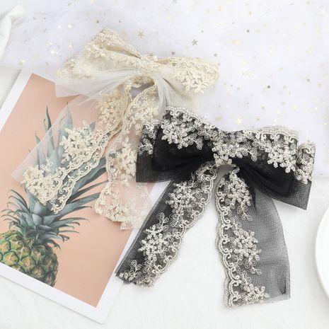 Épingle à cheveux grand nœud fleur tissée en fil de coton dentelle NHJE259452's discount tags