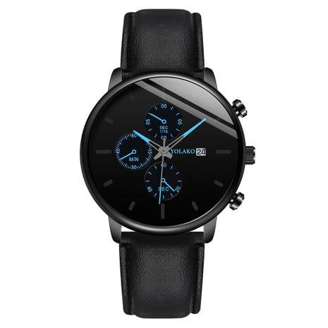 nuevo reloj de cinturón de tres ojos con cinturón de calendario de negocios ultradelgado para hombres NHSS259455's discount tags