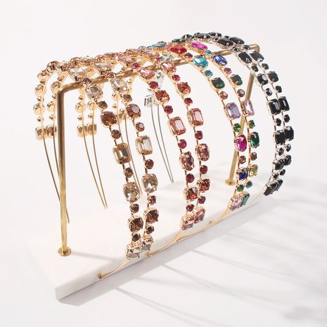 trendy fashion  Baroque creative color drill headband  NHMD259473's discount tags