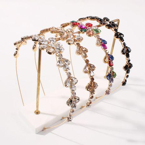 new alloy point diamond  geometric glass diamond trend headband  NHMD259474's discount tags