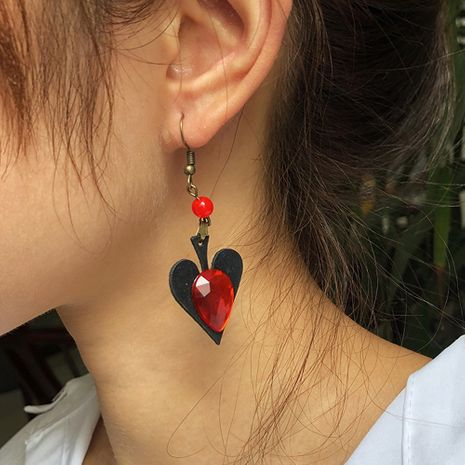 fashion love-shaped Halloween trend alloy heart earrings for women hot sale NHMD259479's discount tags