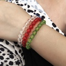 Hot selling color beaded Christmas personality color rice bead bracelet  NHMD259484