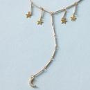Nouveau collier long de lune de diamant toile  cinq branches simple mode NHGY259502