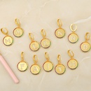 fashion 26 English alphabet  inlaid color zircon earrings  NHAS259511