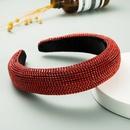 luxury super flash red full diamond sponge headband  NHLN259517