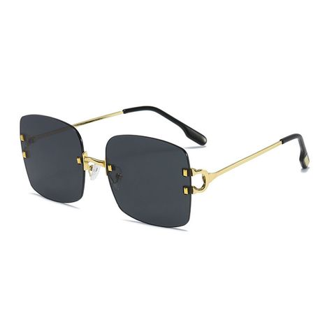 new  trend personality retro box all-match cool plain sunglasses NHBA259542's discount tags