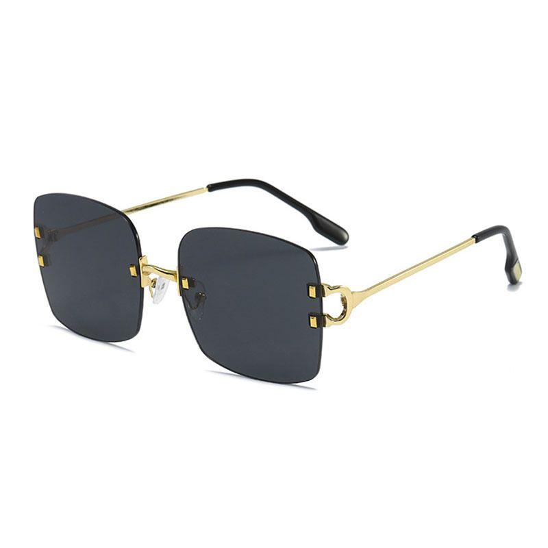 new  trend personality retro box allmatch cool plain sunglasses NHBA259542