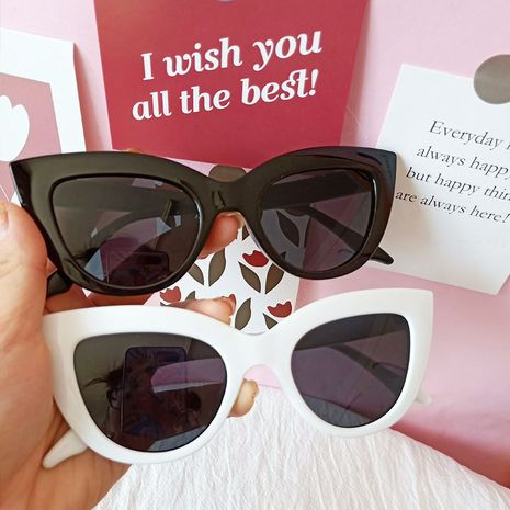 retro triangle cat eye sunglasses Korean  trendy  sunglasses  NHBA259545's discount tags