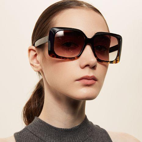 oversized square  retro  leopard print frame square sunglasses  NHXU259556's discount tags